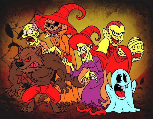 Monstres de Halloween