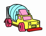 Dibuix Camió mesclador pintat per Marga