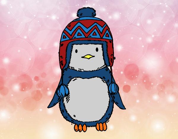 Nadó pingüí amb barret