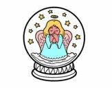 Bola de neu amb àngel