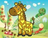 Una girafa