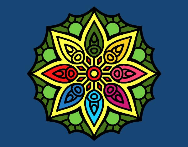 Mandala simetria senzilla
