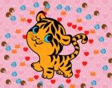 Tigre nadó