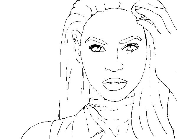 Dibuix de Beyoncé I am Sasha Fierce per Pintar on-line