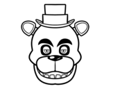 Dibuix de Cara de Freddy de Five Nights at Freddy's per pintar
