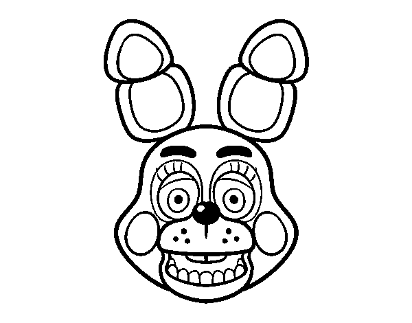 Dibuix de Cara de Toy Bonnie de Five Nights at Freddy's per Pintar on-line