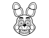 Dibuix de Cara de Toy Bonnie de Five Nights at Freddy's per pintar