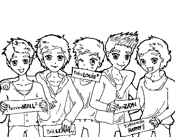 Dibuix de Els nois de One Direction per Pintar on-line