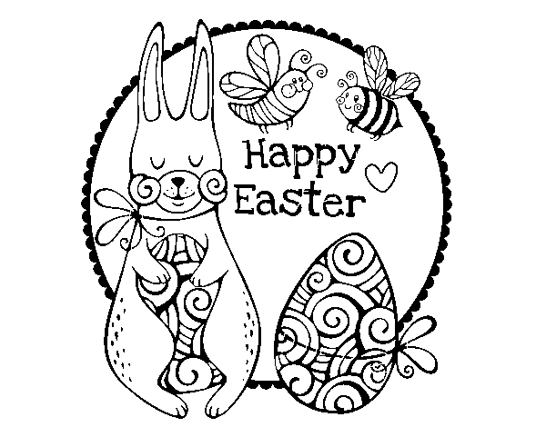 Dibuix de Happy Easter per Pintar on-line