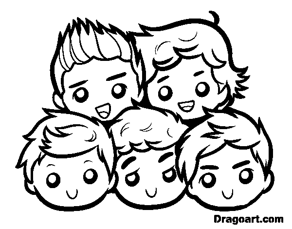 Dibuix de One Direction 2 per Pintar on-line