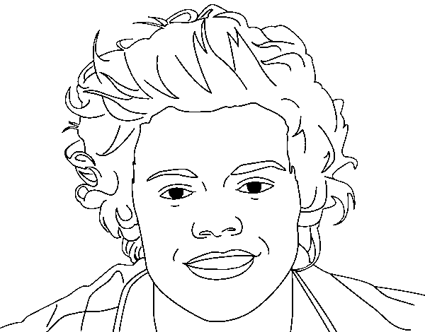 Dibuix de Retrat de Harry Styles per Pintar on-line