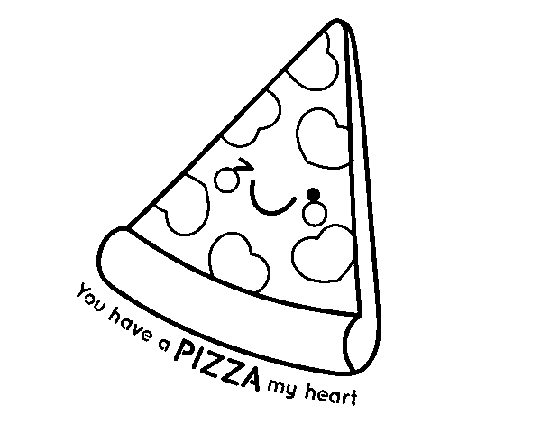 Dibuix de You have a pizza my heart per Pintar on-line