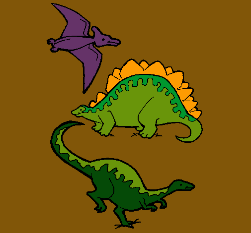 Tres classes de dinosauris