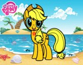Dibuix Applejack de My Little Pony pintat per mcompte4