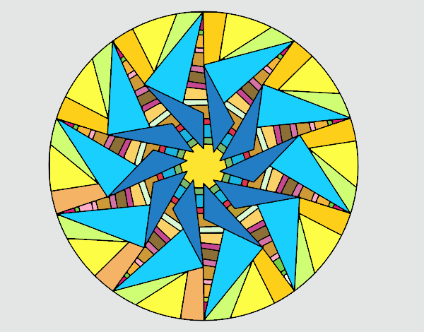 Mandala sol triangular